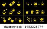 set of methods of brewing tea... | Shutterstock .eps vector #1453326779
