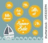 summer sales vector | Shutterstock .eps vector #145333594