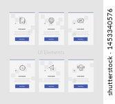 business web cards template... | Shutterstock .eps vector #1453340576