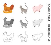 vector design of breeding and... | Shutterstock .eps vector #1453340903