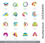 abstract design elements .... | Shutterstock . vector #145334494