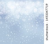 abstract snowy winter... | Shutterstock .eps vector #1453347719