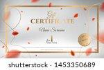 gift certificate vector... | Shutterstock .eps vector #1453350689