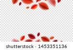fall blurred flying red leaves  ... | Shutterstock .eps vector #1453351136