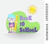 back to school vector... | Shutterstock .eps vector #1453352519