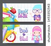 back to school vector... | Shutterstock .eps vector #1453352543