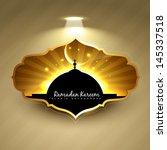 vector ramadan kareem label... | Shutterstock .eps vector #145337518