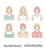 collection of profile portraits ... | Shutterstock .eps vector #1453391096