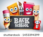 back to school education items... | Shutterstock .eps vector #1453394399