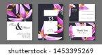 botanical wedding invitation... | Shutterstock .eps vector #1453395269