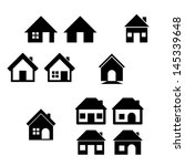 houses icons set. real estate. | Shutterstock .eps vector #145339648