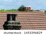 Typical English Chimneys On The ...