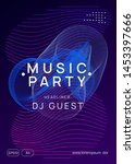 Stock vector trance party dynamic gradient shape and line geometric discotheque banner design neon trance 1453397666
