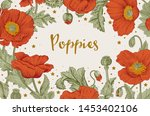 vintage illustration. card. red ... | Shutterstock .eps vector #1453402106
