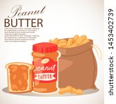 peanut butter banner vector... | Shutterstock .eps vector #1453402739