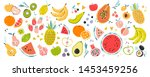 fruit collection in flat hand... | Shutterstock .eps vector #1453459256