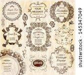 vector set  calligraphic design ... | Shutterstock .eps vector #145347049