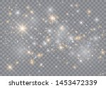 light glow effect stars. vector ... | Shutterstock .eps vector #1453472339
