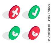 phone call isometric icons set. ...
