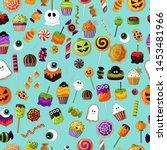 halloween treats pattern....   Shutterstock .eps vector #1453481966