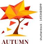 conceptual polygonal autumn... | Shutterstock .eps vector #1453485899