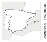 map of spain black thick... | Shutterstock .eps vector #1453488083