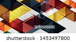 abstract geometric background.... | Shutterstock .eps vector #1453497800