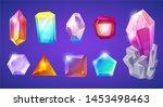 crystal stone crystalline gem... | Shutterstock . vector #1453498463