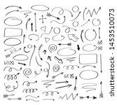 vector doodle design elements.... | Shutterstock .eps vector #1453510073