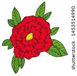 an illustration of a red flower ... | Shutterstock . vector #1453514990