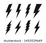 vector set lightning bolt.... | Shutterstock .eps vector #1453529669