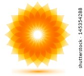 beautiful sunflower icon ... | Shutterstock .eps vector #145354288