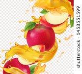 apple fresh juice realistic...   Shutterstock .eps vector #1453551599