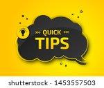 quick tips  helpful tricks.... | Shutterstock .eps vector #1453557503