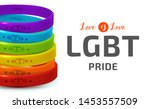 lgbt pride concept. rainbow...   Shutterstock .eps vector #1453557509