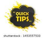 quick tips  helpful tricks.... | Shutterstock .eps vector #1453557533