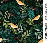 beaytiful bird leaf nature... | Shutterstock .eps vector #1453569146