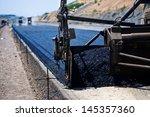 industrial pavement truck... | Shutterstock . vector #145357360