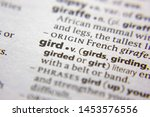 Small photo of Word or phrase Gird in a dictionary