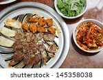 korean cuisine   barbecue grill | Shutterstock . vector #145358038