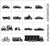 vector transportation icons... | Shutterstock .eps vector #1453604123