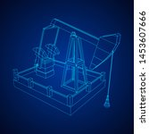 oil well rig jack. finance... | Shutterstock .eps vector #1453607666
