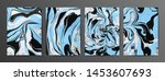 multicolor marbled paper vector ... | Shutterstock .eps vector #1453607693