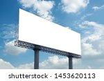 billboard blank with blue sky...   Shutterstock . vector #1453620113