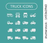Truck icon set - stock vector