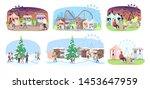fun fair flat vector... | Shutterstock .eps vector #1453647959