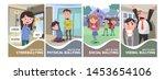 stop bullying posters set.... | Shutterstock .eps vector #1453654106