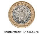 British Two Pound Coin Isolate...