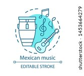 mexican music concept icon.... | Shutterstock .eps vector #1453664279
