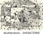 abstract geometric composition...   Shutterstock .eps vector #1453672583